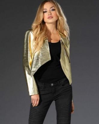 Куртка золотого цвета (кожа), gold cut (германия), размер s. Одесса. фото 1