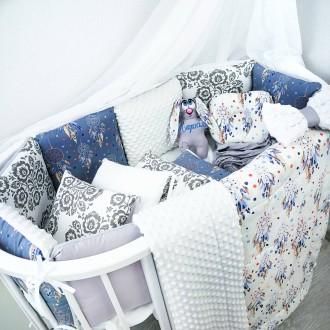 Бортики защита в детскую кроватку. Сумы. фото 1