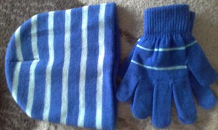 Комплект шапочка  и перчатки. Киев. фото 1