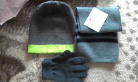 Наборчик шапка,перчатки, шарф. Киев. фото 1