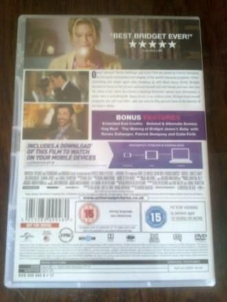 """Продам DVD с фильмом """"Ребенок Бриджит Джонс"""" на языке оригинала (английский). На. Запорожье, Запорожская область. фото 5"""