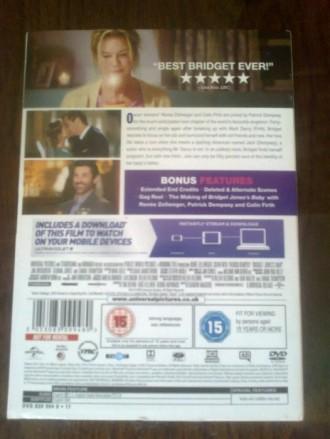 """Продам DVD с фильмом """"Ребенок Бриджит Джонс"""" на языке оригинала (английский). На. Запоріжжя, Запорізька область. фото 3"""