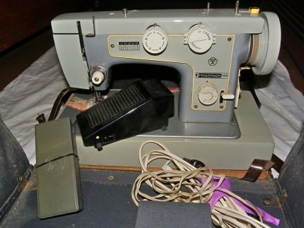 Продам швейную машину Подольск-142 переносную с электроприводом. Житомир. фото 1