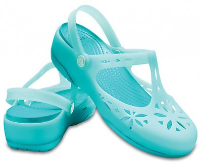 Ажурные босоножки клоги crocs isabella clogs мятного цвета. Киев. фото 1