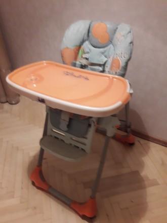 Стульчик для кормления Chicco POLLY 2 в 1 Wood friends. Сьемный столик!. Киев. фото 1