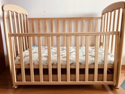 Детская кроватка Верес + матрас ортопед + защита + постельное белье. Черкассы. фото 1