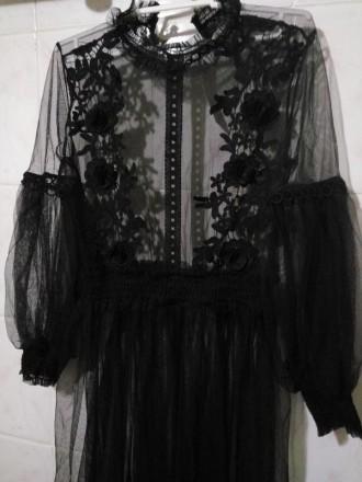 Черное фатиновое платье. Николаев. фото 1