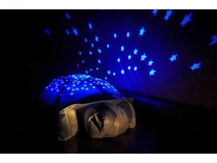 Музыкальный ночник-проектор Sparkling Turtle Черепаха - Звездное небо. Харьков. фото 1