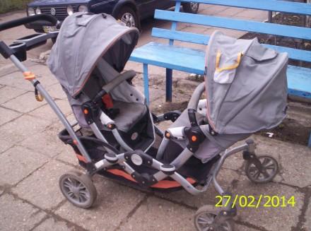 Дитяча коляска подвійна. Богородчаны. фото 1