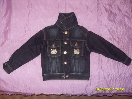 Джинсова курточка Hello Kitty на дівчинку. Львов. фото 1