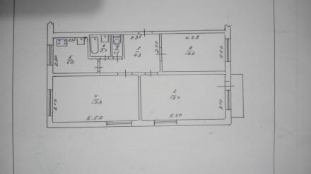Предлагается к продаже 3-х комнатная квартира на 1-м этаже 5-ти этажного панельн. Район Д, Черкассы, Черкасская область. фото 10