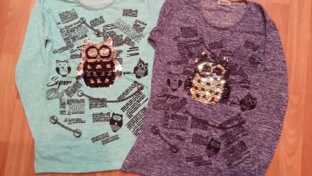 Детские  туники, футболки  с пайетками.. Лисичанськ. фото 1