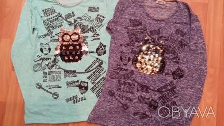 Детские  туники, футболки  с пайетками.