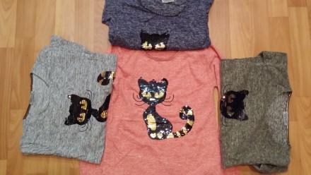 Детские  туники, футболки  напылением  ангоры (  пайетки).. Лисичанск. фото 1