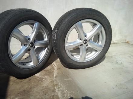 Продам шини на титанових дисках до авто-ля рено еспейс. Ковель. фото 1
