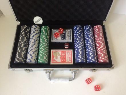 Набор для игры в покер 300 фишек в кейсе покерный набор новый. Киев. фото 1
