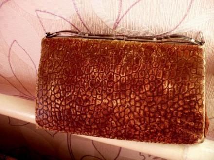 Кожаный ридикюль 60-х гг.. Старобельск. фото 1