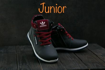 Детские кожаные зимние кроссовки Adidas. Днепр. фото 1