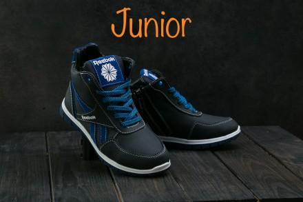 Детские кожаные зимние кроссовки Reebook. Днепр. фото 1