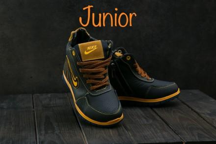 Детские кожаные зимние кроссовки Nike. Днепр. фото 1