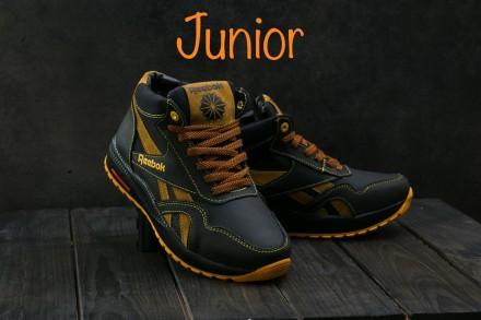 Подростковые кожаные зимние кроссовки Reebok. Днепр. фото 1