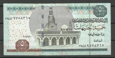 Продам Египетские 5 фунтов 2012 года + 1 фунт 2006 года. Киев. фото 1