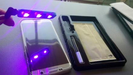 Закаленное Стекло 3D полное покрытие УФ-излучения для SAMSUNG Galaxy S8+ S9 плюс. Киев, Киевская область. фото 2