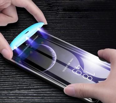 Закаленное Стекло 3D полное покрытие УФ-излучения для SAMSUNG Galaxy S8+ S9 плюс. Киев, Киевская область. фото 12