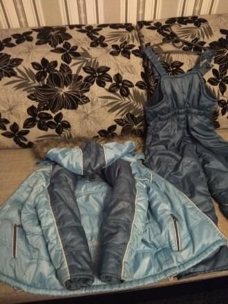 Зимний комбинезон, хорошее состояние. Замеры: длина куртки 53 см, длина рукава 4. Чернигов, Черниговская область. фото 3