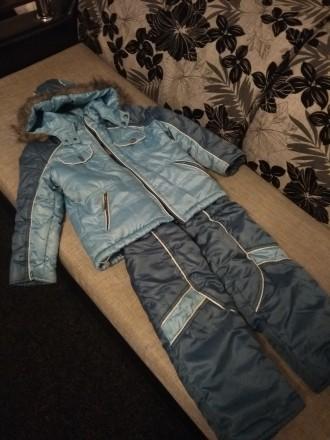 Зимний комбинезон, хорошее состояние. Замеры: длина куртки 53 см, длина рукава 4. Чернигов, Черниговская область. фото 7