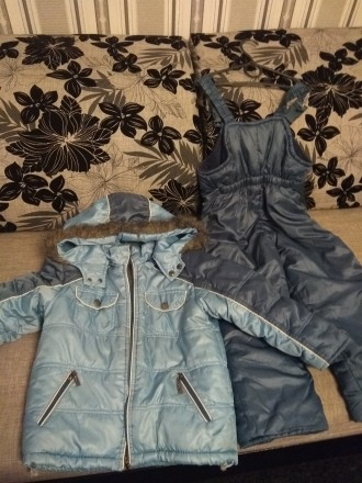 Зимний комбинезон, хорошее состояние. Замеры: длина куртки 53 см, длина рукава 4. Чернигов, Черниговская область. фото 4