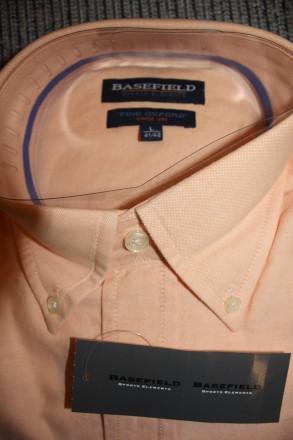 Продам рубашку BASEFIELD L regular fit, абрикосовая . Привезена из Германии Вор. Киев, Киевская область. фото 4