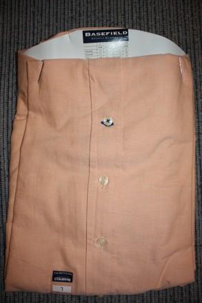 Продам рубашку BASEFIELD L regular fit, абрикосовая . Привезена из Германии Вор. Киев, Киевская область. фото 5