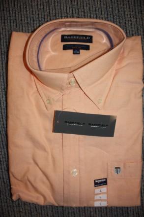 Продам рубашку BASEFIELD L regular fit, абрикосовая . Привезена из Германии Вор. Киев, Киевская область. фото 3