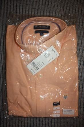 Продам рубашку BASEFIELD L regular fit, абрикосовая . Привезена из Германии Вор. Киев, Киевская область. фото 2