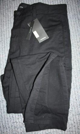 Брюки reserved 34 slim fit серые/черные с лампасами. Киев. фото 1