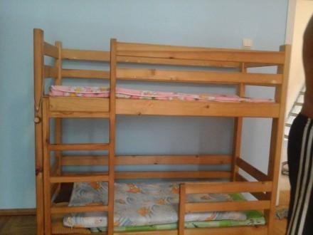 дитяче двоповерхове ліжко. Ужгород. фото 1
