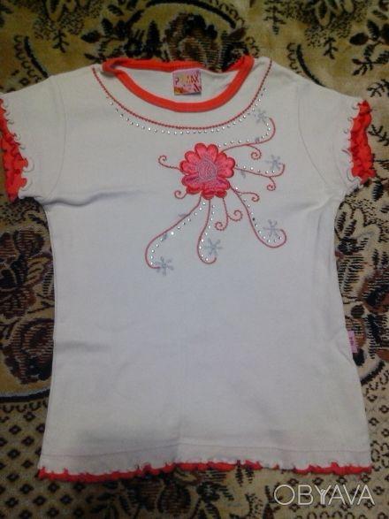 Нарядная,новенькая футболка, длина изделия 40см. Дніпро, Дніпропетровська область. фото 1