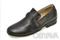 Туфли черные классические для мальчика B&G.. Сумы. фото 1