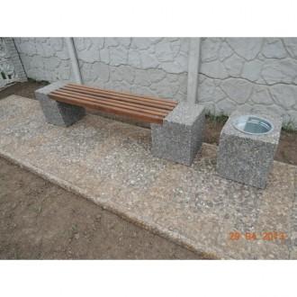 Скамейка садовая, лавочка парковая, скамья бетонная для сада, дачи, лавка в парк. Харьков. фото 1