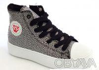 Шикарные ботиночки от ТМ B&G. Черные с серебряными каплями.  Выполнены из качест. Сумы, Сумская область. фото 2