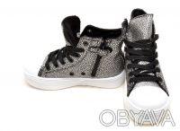 Шикарные ботиночки от ТМ B&G. Черные с серебряными каплями.  Выполнены из качест. Сумы, Сумская область. фото 4