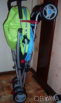 Коляска-трость НОВАЯ! Беби Клаб пр-во Польша выдерживает 25 кг,до 3-х лет вес 6 . Киев, Киевская область. фото 4