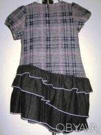 Платье-сарафан шерстяной TRAUM, можно для школы. Нестандартная модель. Серо-че. Киев, Киевская область. фото 8