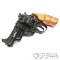 Вороненый револьвер с буковой рукоятью Safari РФ-431М предназначен для спортивно. Запорожье, Запорожская область. фото 5