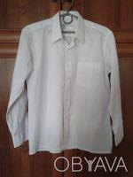 рубашка на мальчика чисто белая (длина по спине 62 см.рукав от плеча 53 см) .сос. Житомир, Житомирская область. фото 2