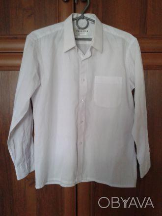 рубашка на мальчика чисто белая (длина по спине 62 см.рукав от плеча 53 см) .сос. Житомир, Житомирская область. фото 1