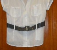 блузка  школьная с лакированным серым поясом.. Запорожье. фото 1