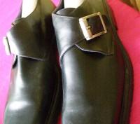 Мужские кожаные туфли от Alberto Ferrara. Ромны. фото 1
