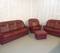 Продам Б/У кожаную мебель с Германии. Бережаны. фото 1